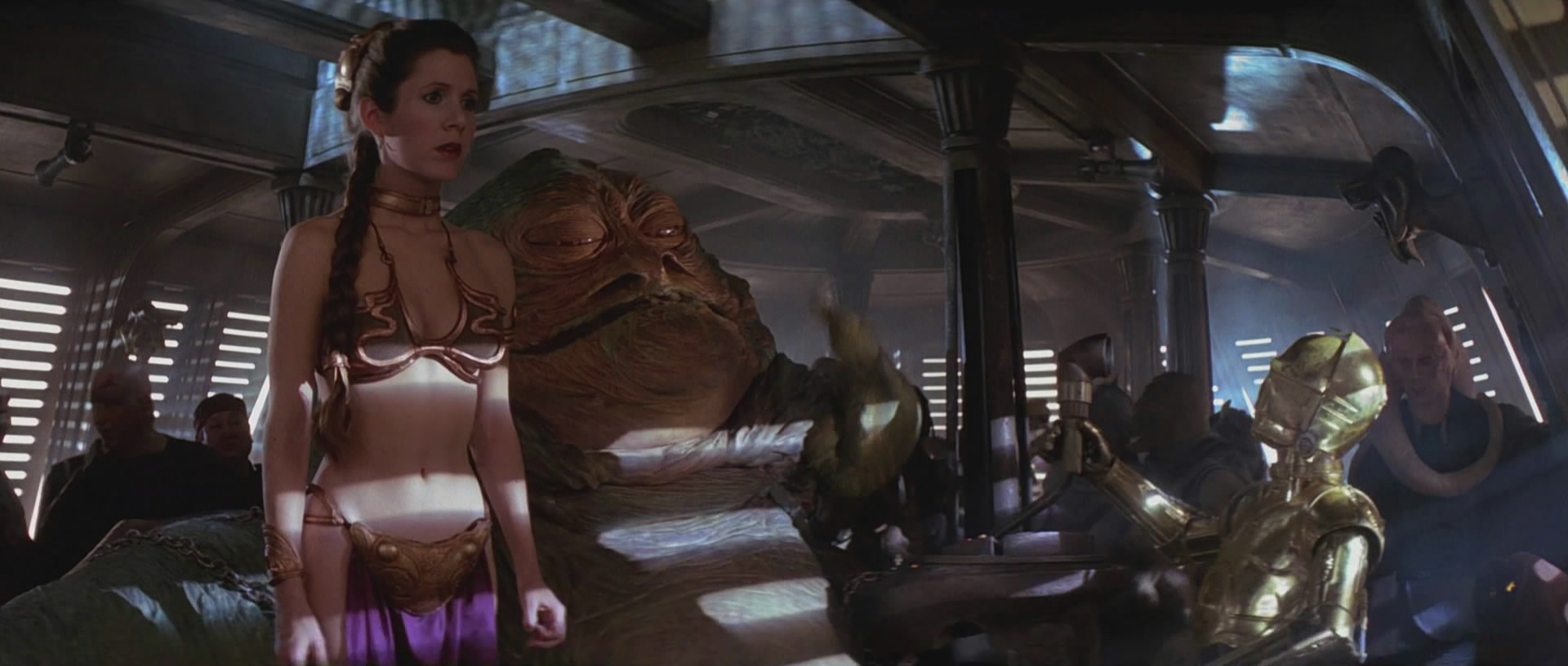 Return Of The Jedi Leia And Jabba The Hutt